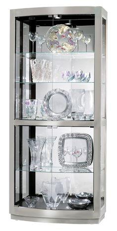 Howard Miller Bradington II Nickel Mirrored Curio Cabinet $1,192.80