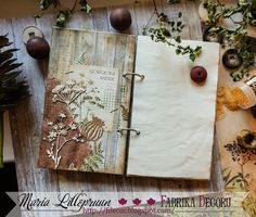Mixed media eco botanic notebook by Maria Lillepruun