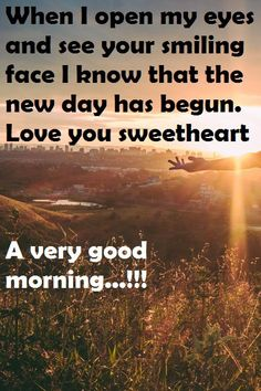 At the time of Evening sunset point Morning Message For Her, Good Morning Messages, Sunset Point, Messages For Her, Evening Sunset, Smile Face, New Day, Love You, Feelings