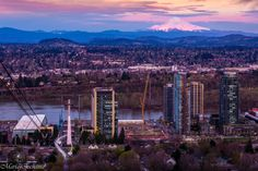https://flic.kr/p/FkLNGW   Pink and blue   As I promised I came back to the Portland Tram for photos of the views you can enjoy there. This is one of them. Part of the city, Willamette River and my loved Mt. Hood after sunset. I couldn't make it before sunset (the light is amazing) but at this moment the blue and pink tones in the mountains, sky and city are beautiful too.  Happy Spring or Fall, depending on your latitude, to my Flickr friends! Both are beautiful seasons.