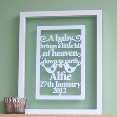 Paper Cut Wall Art by all things paper, via Flickr