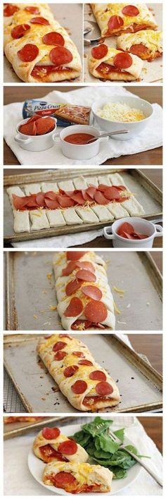 Pizza Braid Maybe with Canadian Bacon? Pepperoni Pizza Braid is another fun way to do Friday Night Pizza Night right!Maybe with Canadian Bacon? Pepperoni Pizza Braid is another fun way to do Friday Night Pizza Night right! I Love Food, Good Food, Yummy Food, Great Recipes, Dinner Recipes, Favorite Recipes, Fast Recipes, Lunch Recipes, Dinner Ideas