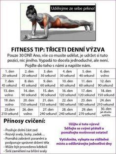 30 denní výzvy - Life by Tess♥ - Hryprodivky. Yoga Fitness, Fitness Tips, Health Fitness, Training Programs, Workout Programs, Dance Program, Sports Activities, 30 Day Challenge, Excercise