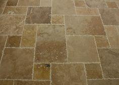 BuildDirect – Travertine Tile - Antique Pattern – Volcano Standard - Multi View