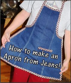 Denim Do Over | Denim Apron Made From Recycled Jeans | http://www.denimdoover.com