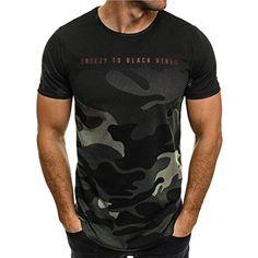 ❤️Amlaiworld Camiseta de camuflaje Hombre militares camisetas deporte ropa deportiva  Camisa de manga corta de 042ae718ce70d