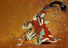 Loyal protecter 2013 . acrylic mix media canvas, size 63x82cm - ZAYA , Zayasaikhan Sambuu