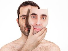 Photo about An (apparently) handsome young man removes his face as a mask, revealing and old, ugly and wrinkled face underneath. Image of mask, unshaven, fake - 19187902 Mask Tattoo, Handsome, Stock Photos, Face, Young Man, Zodiac, Social Media, Friends, Men's
