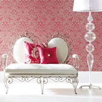 Lalika Wallpaper | Harlequin Wallpaper. They're selling the wallpaper but I like the love-seat.