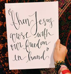 """""""Our savior displayed on a criminal's cross Darkness rejoiced as though heaven had lost But then Jesus arose with our freedom in hand That's when death was arrested and my life began"""" Jesus is so powerful. I love today & I love these lyrics. #HeIsRisen"""