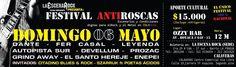 Invitados al Festival sin Roscas de Bogotá.