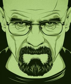 Loving the line-art portraiture from CranioDsgn - Breaking Bad