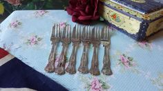 6 Silver Plated Kings Pattern Cake Forks by NostalgiqueBoutique