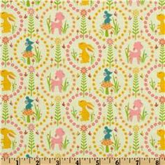Woodland Trails Friends Green-   Love this fabric!