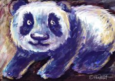 Panda #illustration #art #photoshop #cintiq #panda #wild #animal #cute