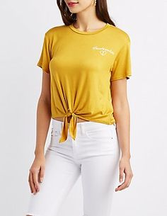 f5a3e84e9b44 Charlotte Russe. Cool Graphic TeesGraphic ShirtsTshirt KnotYellow ...