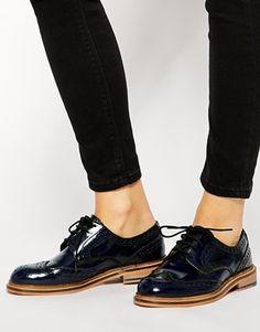 ASOS - MANSEL - Chaussures richelieu en cuir à lacets