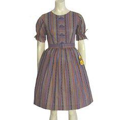50s Vintage Dress Rockabilly Novelty Print Lucy Shirt Waist