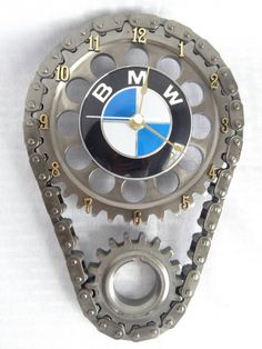 BMW Automotive Decor car part furniture luxury Check out this item in my Etsy shop https://www.etsy.com/listing/269555609/bmw-emblem-on-engine-timing-gear-set