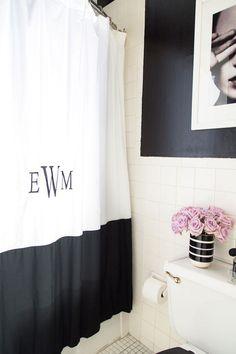 A Teen Vogue Editor's Stylish Rental Bathroom Makeover! via sohautestyle.com
