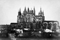León, fotos antiguas, catedral 1854