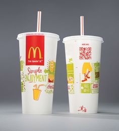 McDonald's is unveiling new packaging designs on all carry-out bags and fountain beverage cups with QR codes. This initiative is the latest step in the company's ongoing commitment to provide consumers with information to help them make informed choices. The launch begins this week in the U.S. and will continue rolling out worldwide through 2013, with the text being translated into 18 different languages.