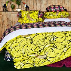 Bananas!!! Kip and co bedding http://www.huntingforgeorge.com/homeware/bedding