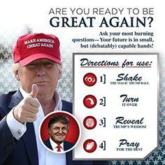 AmazonSmile: KickFire Classics Magic Trump Ball | Classic Magic 8 Ball Toy | Trump Novelty Merchandise | Political Gag Gifts: Toys & Games