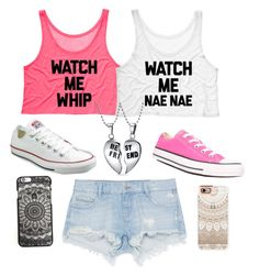 """Twinnies"" by ayen-m on Polyvore featuring Zara, Converse, Bling Jewelry and Casetify"