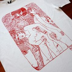 love tee-tshirt-t-shirt-art-drawing-hvid-red-white-online-fashion-mode-gallery-fine-art-online-facebook-halfdan-pisket-naked-woman-shower-xxx-minotaur