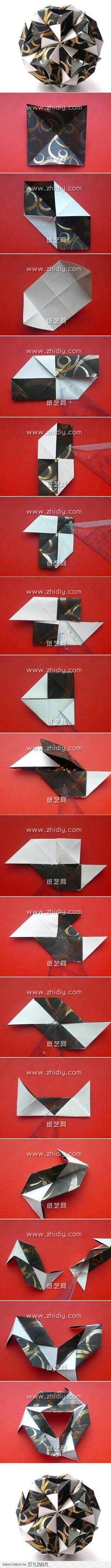 Kusudama Origami Folding Instructions Lantern   Origami ... The Stylowi.pl