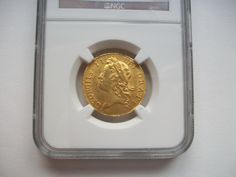 Guinea 1733 slabbed by NGC AU55 £3950 More details  http://bit.ly/1CnrSnt