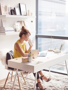 Office furniture for women Residential Things All Successful Women Do When They Wake Up Via mydomaine Office Interiors Pinterest 87 Best Womens Office Decor Images Desk Nook Home Office Office