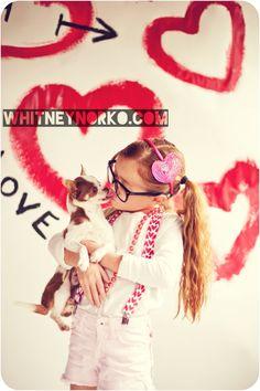 Love the suspenders & headband. Valentines day photoshoot