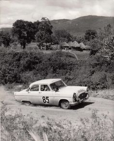 Ford Zephyr, East African Safari Rally 1960s Vintage Racing, Vintage Cars, Ford Zephyr, Old Fords, African Countries, Rally Car, African Safari, Car And Driver, East Africa