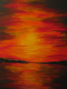 Acrylic Painting of a Sunset