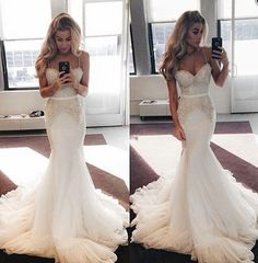 A haute couture wedding dress like this can be replicated in a price range that is affordable for the bride on a budget. Get pricing details on inexpensive of couture designs and custom when you contact us at Beaded Prom Dress, Mermaid Prom Dresses, Dream Wedding Dresses, Wedding Gowns, Cheap Party Dresses, Dresses Dresses, Dress Party, Long Dresses, Evening Dresses