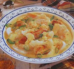 Receitas - Curry de frango e couve flor - Petiscos.com