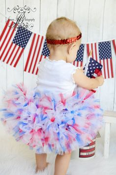 Red White Blue Petti Tutu dress -INDEPENDANCE DAY american girl 4th of July