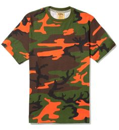 Billionaire Boys Club Safety Orange Camo Permit T-Shirt