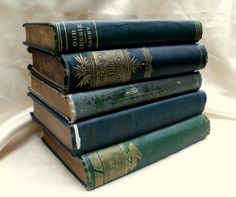 Decorative Book Collection.   Pottery Barn/ Country Living Style.   Vintage Decorative Books. Book Stack. Photo Photography Prop. Wedding Decorations. Center Piece. Home Decor. $20.00, via Etsy.