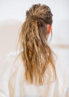 Dream Weaver: Bb. Stylist Jordan M created this braided, twisted, dreaded look for Zero + Maria Cornejo's Fall/Winter 2014 show.