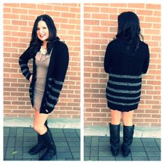 Get this great fall look! We love long sleeve dresses and we pair them with a great warm sweater and your ready to go! Just add boots for the full fall look:) Pick up the dress and sweater at Vivd! Great Falls, Warm Sweaters, Sleeve Dresses, Ready To Go, Fall Looks, Pairs, Boots, Long Sleeve, Fashion
