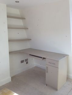 Desk area create in an odd corner of a loft conversion