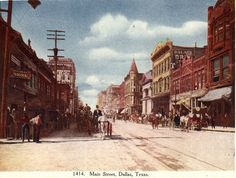 Vintage postcard: Main Street, downtown Dallas, Texas (early 1900s) by coltera, via Flickr