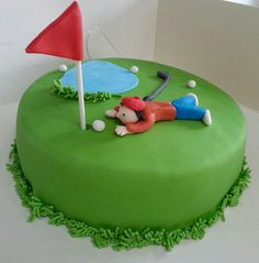 verjaardagstaart golf