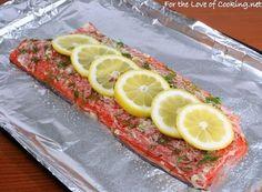 Salmon Garlic Lemon and Dill. Best salmon recipe I've ever made!