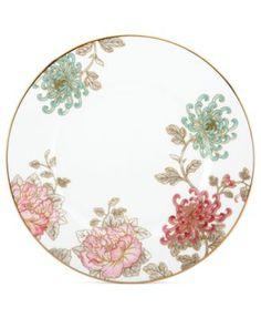 Marchesa by Lenox Dinnerware, Painted Camellia Dinner Plate | macys.com