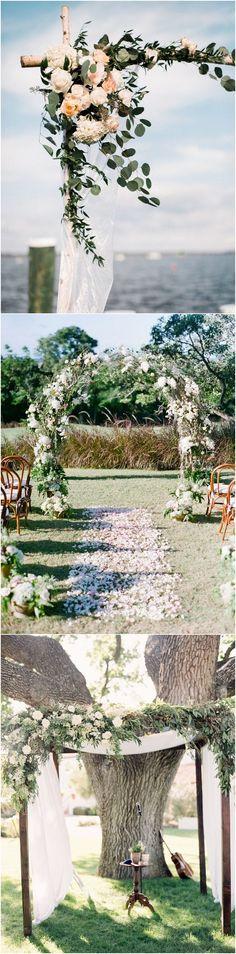 Floral wedding arch decoration ideas