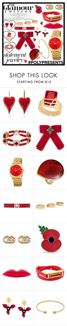 """""""#PolyPresents: Statement Jewelry"""" by daniellejosephinevogue ❤ liked on Polyvore featuring Charter Club, Napier, Gucci, August Steiner, Ippolita, Ruifier, Loren Stewart, Sonia Rykiel, Tory Burch and Marni"""